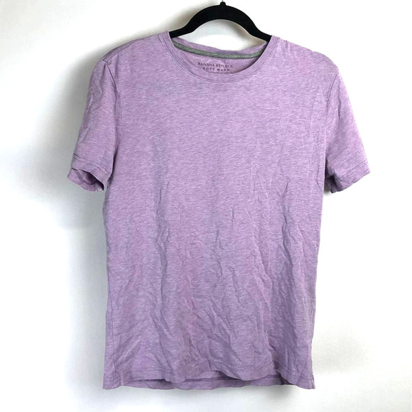 Banana Republic Crew Neck Purple T-Shirt